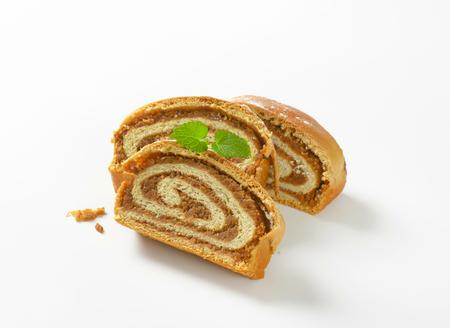 strudel: sliced nut strudel