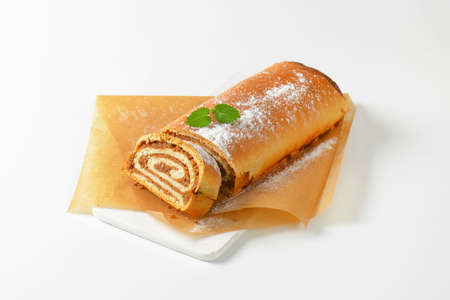 ground nuts: Walnut Roll on baking paper