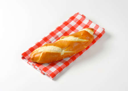 sweet and savoury: Plain finger roll with a soft crust Stock Photo