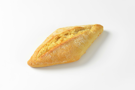 crusty french bread: French-style hard roll with a touch of sour dough Stock Photo