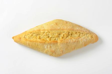 Plain dinner roll with slight sour dough taste