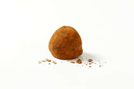 chocolate truffle: Chocolate truffle coated in cocoa powder