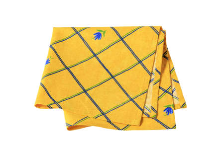 place mat: Small yellow place mat with flower pattern