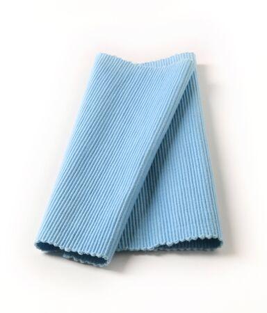 place mat: Blue cotton place mat on white  background