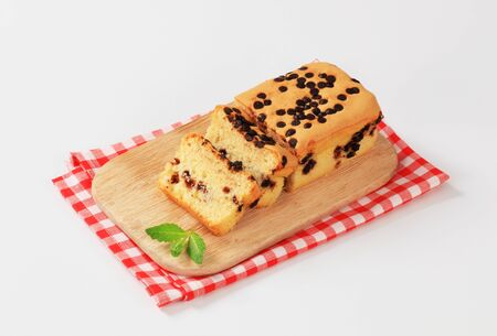 chocolate chips: sponge cake topped with chocolate chips