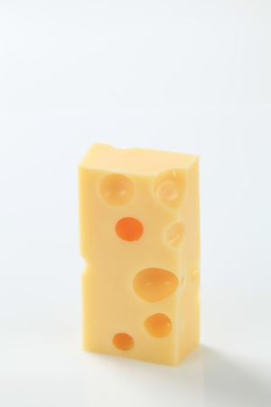 emmental: small piece of emmental cheese