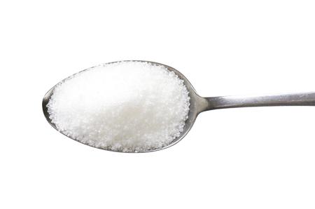 미세 입자가 굵은 설탕의 숟가락