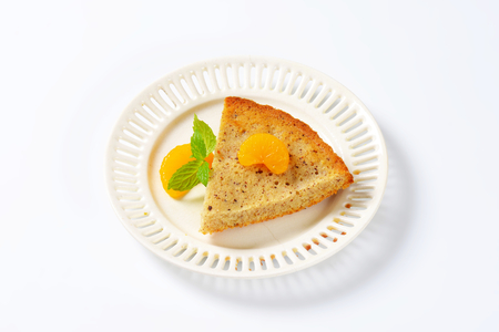 spiced: Slice of spiced lemon nut cake