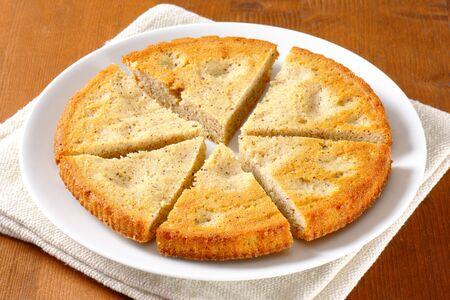 spiced: Spiced almond cake cut into slices