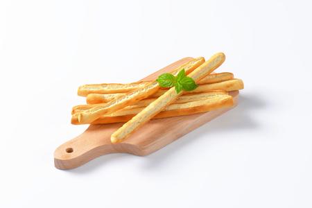 nibble: Grissini breadsticks Stock Photo