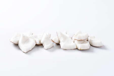 flesh: Pieces of fresh coconut flesh