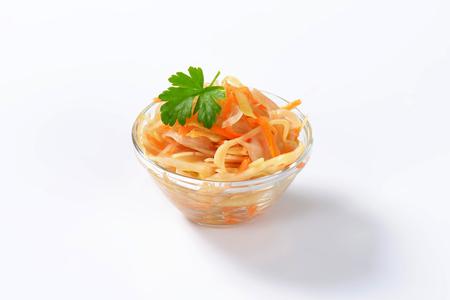 brine: White cabbage salad in vinegar brine