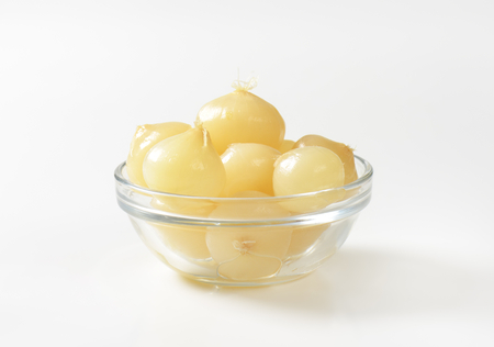 nibbles: Bowl of small pickled onions