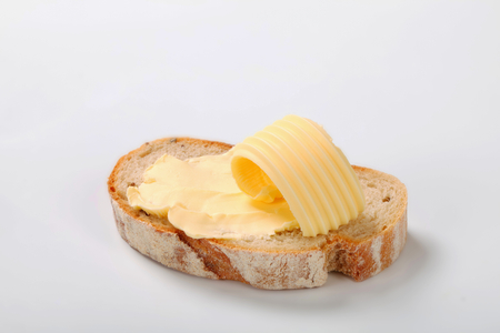 slice of bread with butter