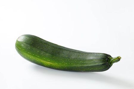 long shots: fresh whole zucchini on a white background Stock Photo