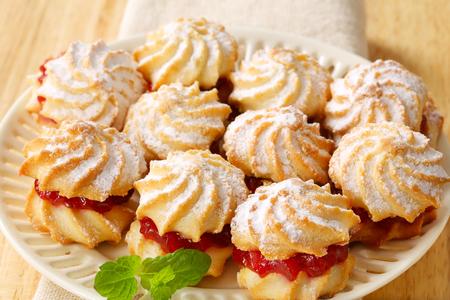 spritz: Spritz sandwich cookies with jam filling