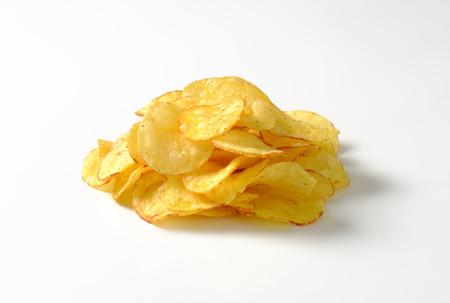 potato crisps: Heap of crunchy potato crisps