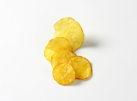 crisps: Studio shot of crunchy crisps Stock Photo