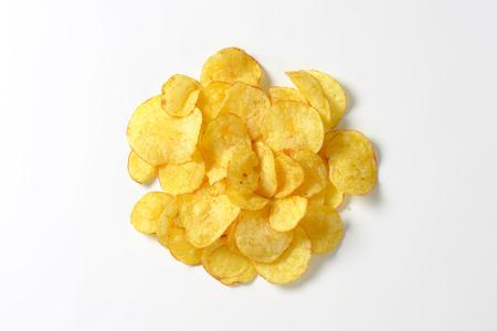 crunchy: Heap of crunchy potato crisps