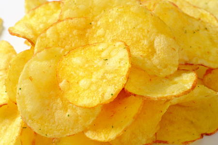 heap: Heap of crunchy potato crisps