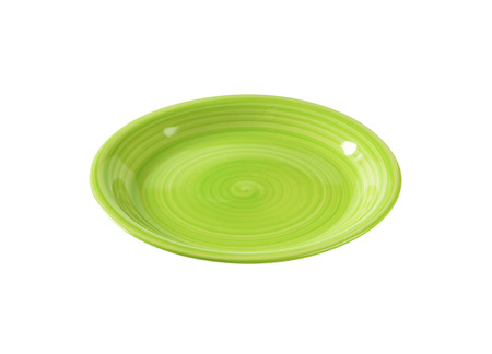 rimless: Coupe shaped green soup plate