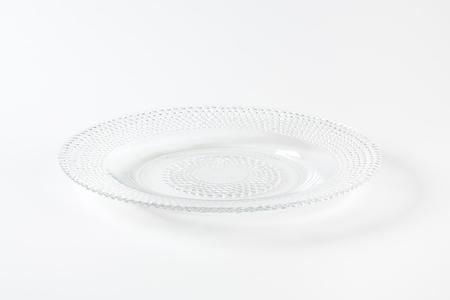dessert plate: Glass dessert plate with beaded rim