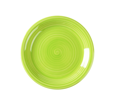 view top: Coupe shaped green soup plate