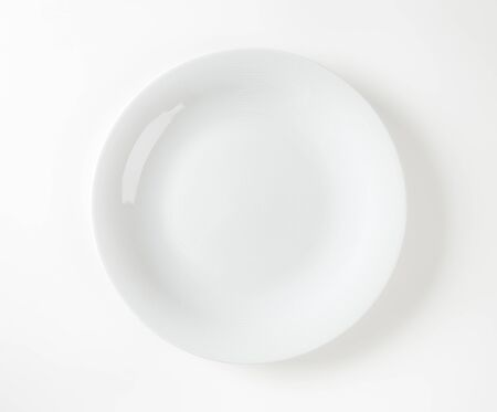 rimless: Smooth coupe-style white dinner plate