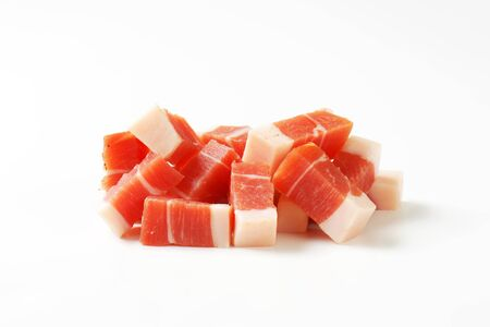 speck: Diced Italian speck from South Tyrol
