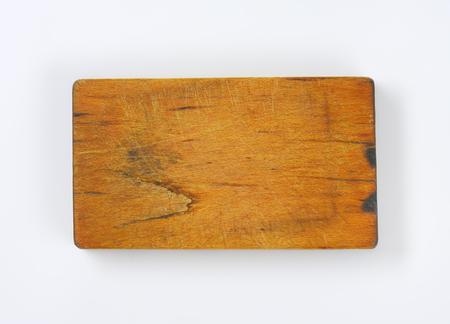 chopping board: old rectangular wooden chopping board