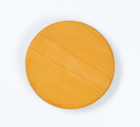 cheese board: small round wooden cheese board
