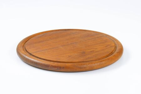 Round planche à découper en bois avec rainure