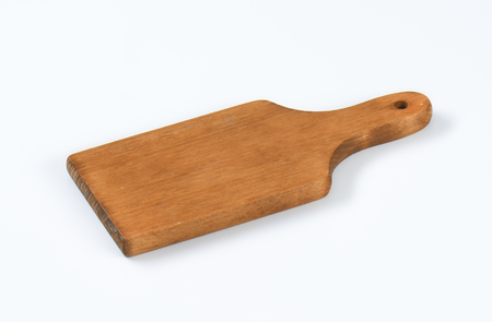 saubere Holzpaddel Schneidebrett