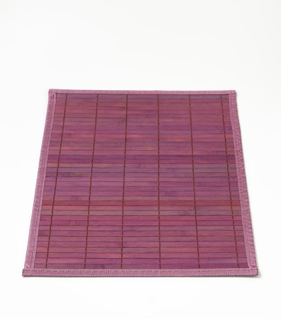 placemat: Stylish violet bamboo placemat - fully open