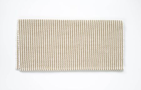 woven: Folded woven cotton table mat