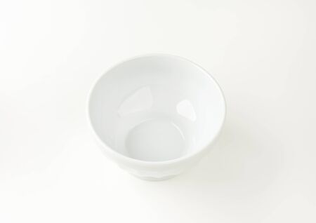 rice bowl: Deep porcelain soup or rice bowl