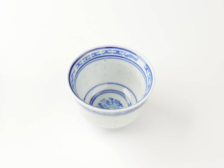 chinese tea cup: small Chinese tea cup on white background