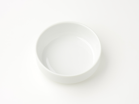 stackable: white stacking soup or salad bowl
