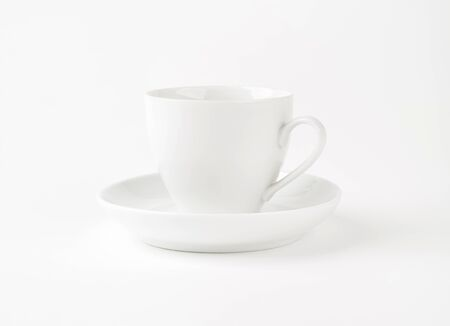 saucer: Empty coffee cup and saucer Stock Photo