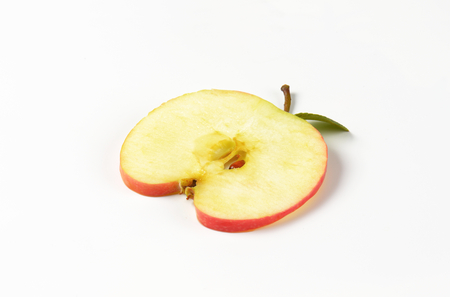 thin apple slice with seeds