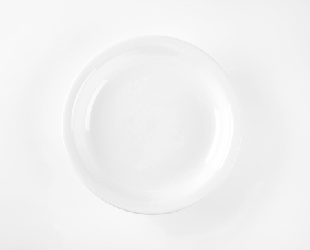 rimless: coupe shaped soup plate on white background