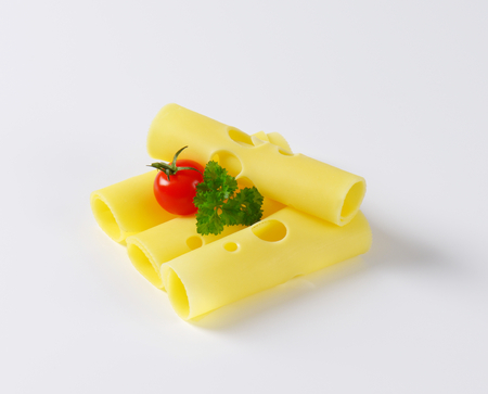 emmental: four rolled slices of emmental cheese