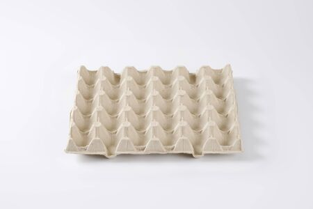 dimples: empty egg tray to store thirty eggs Stock Photo