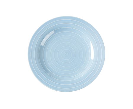 circulos concentricos: Blue dinner plate with white concentric circles