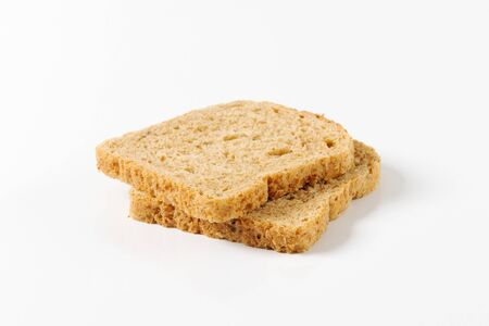 whole wheat toast: two slices of whole grain bread