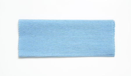 placemat: Ribbed cotton placemat, coastal blue Stock Photo