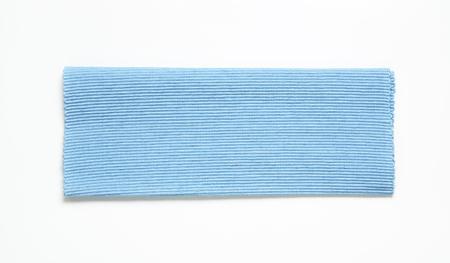 ribbed: Ribbed cotton placemat, coastal blue Stock Photo