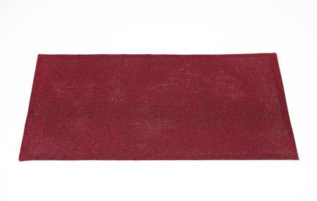 place mat: Rectangular burgundy place mat on white background Stock Photo