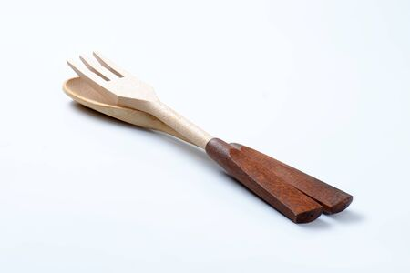 serving utensil: wooden fork and spoon or salad servers