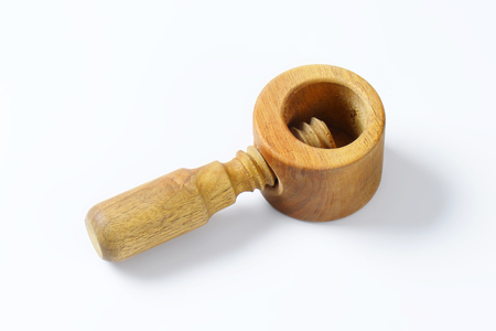 nutcracker: wooden nutcracker on white background Stock Photo
